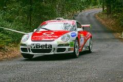 Vodafone Team in Rallye Centro De Portugal lizenzfreie stockbilder