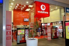 Vodafone telecommunications shop. Situated in Portimao shopping Mall in Portugal. Photo taken on the 15th August 2013 Stock Images