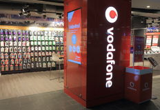 Vodafone telekommunikation Royaltyfria Bilder