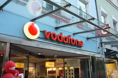 Vodaphone shop Royalty Free Stock Photography