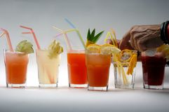 Vodca Coctails Foto de Stock Royalty Free