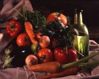 Vodca com vegetais e ervas Foto de Stock Royalty Free