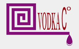 Vodca do Logotype Foto de Stock