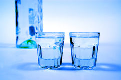 Vodca e vidros Foto de Stock