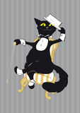 Vodevil Cat Royalty Free Stock Photo