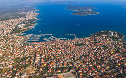 Vodice aerial royalty free stock photography
