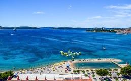 The Vodice beach, Croatia stock photography