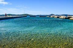 The Vodice beach, Croatia royalty free stock photography