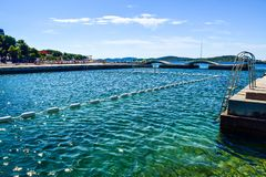 The Vodice beach, Croatia stock images