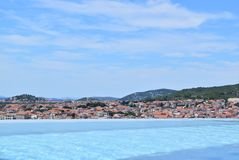 The Vodice cityscape royalty free stock images