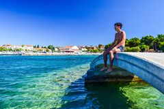 The Vodice cityscape stock photos