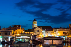 Vodice Croatia at Twilight Dusk Blue Hour on Summer Afternoon To Stock Photo