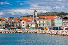 Vodice is a small town on the Adriatic coast in Croatia Royalty Free Stock Photos