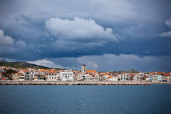 Vodice is a small town on the Adriatic coast in Croatia Royalty Free Stock Photo