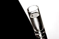 Vodka. Drink series: glass of Russian vodka over black Stock Photo