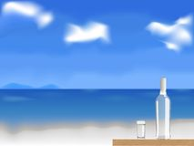 Vodka on the beach vector Royalty Free Stock Image