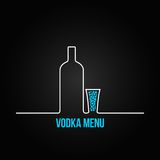 Vodka bottle glass deign menu background Royalty Free Stock Images