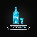 Vodka bottle poly design background Royalty Free Stock Image