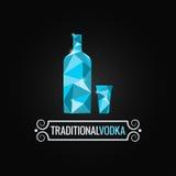 Vodka bottle poly design background Royalty Free Stock Image