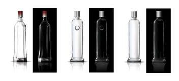 Vodka bottles. Abstract art illustration Stock Photography