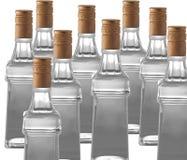 Vodka bottles Stock Photos