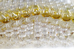 Vodka and Brandy Snifters Royalty Free Stock Photos
