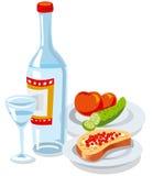 Vodka and caviar Royalty Free Stock Photos