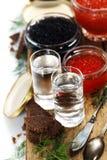 Vodka and caviar Stock Photo