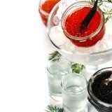 Vodka and caviar Stock Photography