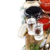 Vodka and caviar Royalty Free Stock Photography