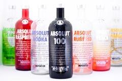 Vodka de Absolut Foto de archivo libre de regalías