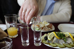 Vodka de colada Imagen de archivo