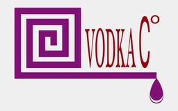 Vodka del logotipo Foto de archivo