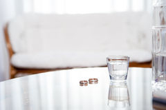 Vodka, disintegration, marriages Stock Image