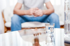 Vodka, disintegration, marriages. Vodka reason for the disintegration of many marriages Stock Photos