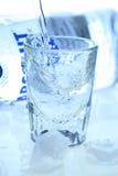 Vodka et glace Image libre de droits