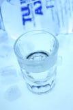 Vodka et glace Photographie stock