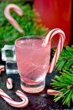 Vodka för godisrotting, traditionell julalkoholdrink arkivfoto