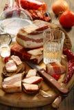 vodka för rye för baconbröd glass Royaltyfria Bilder