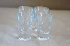 Vodka glasses Royalty Free Stock Photography