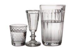 Vodka i exponeringsglas nio fotografering för bildbyråer