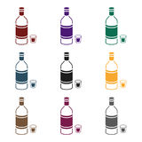 Vodka icon in black style  on white background. Alcohol symbol stock vector illustration. Royalty Free Stock Images