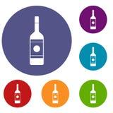 Vodka icons set Royalty Free Stock Photography