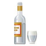Vodka. Illustration of the bottle of vodka Stock Images