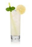 Vodka lemon. Longdrink vodka lemon in front of white background Stock Photo