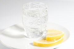 Vodka and lemon Stock Photos