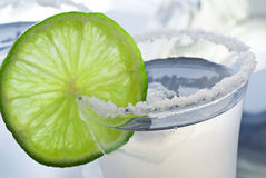 Vodka with Lime Stock Image