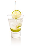 Vodka with lime Stock Photography