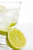 Vodka with lime Royalty Free Stock Photo