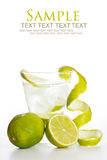 Vodka with lime royalty free stock image